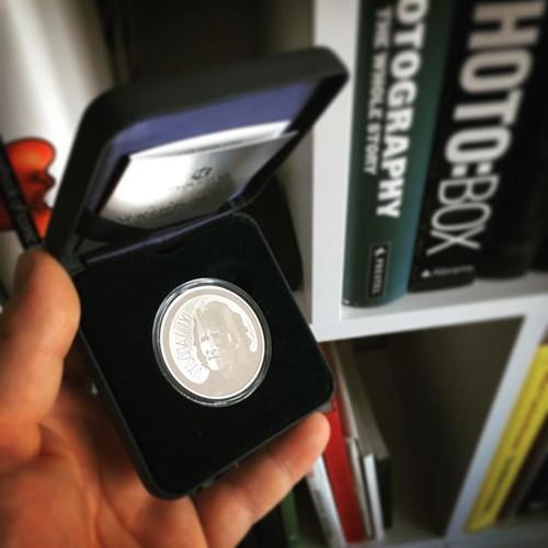 Proginė sidabrinė moneta Vydūnui