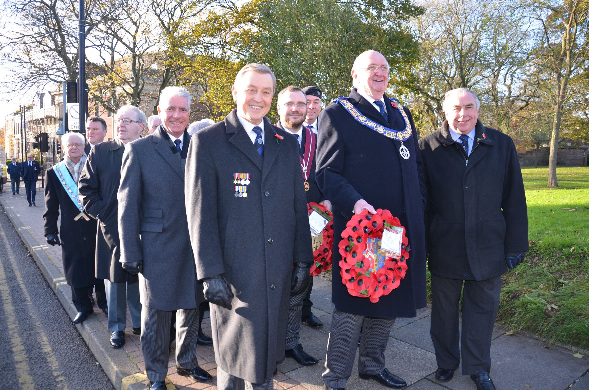 Wearside Masonic Temple supporting Remembrance Sunday 2017