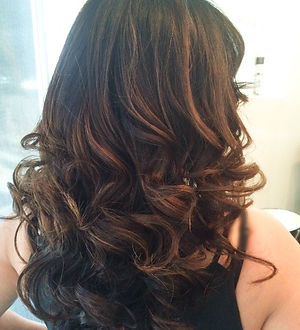 Brunette Loose Cut and Curl by Shaya Souhail