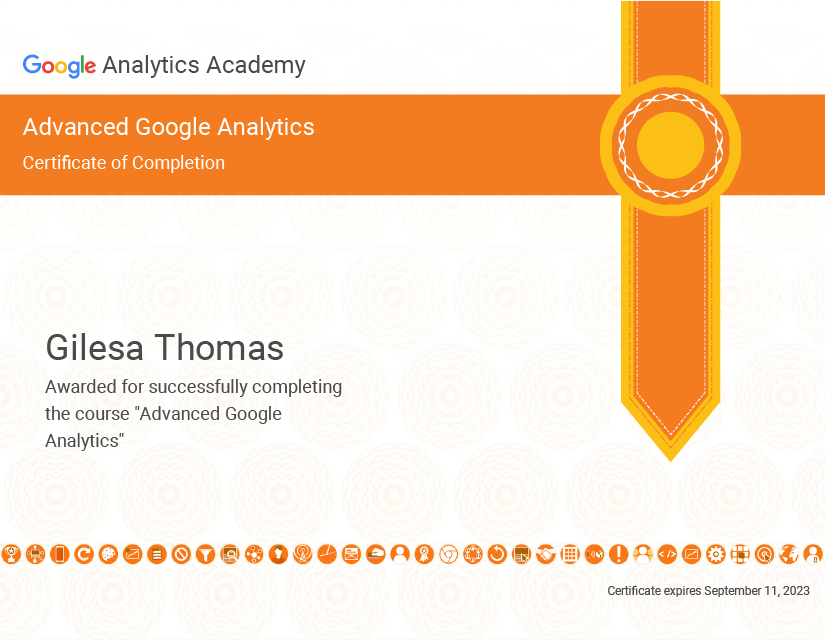 Google Analytics Advanced Certificate