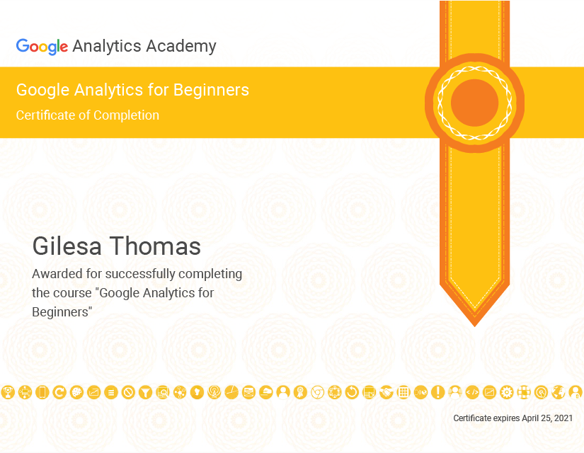Google Analytics Beginner Ceritficate