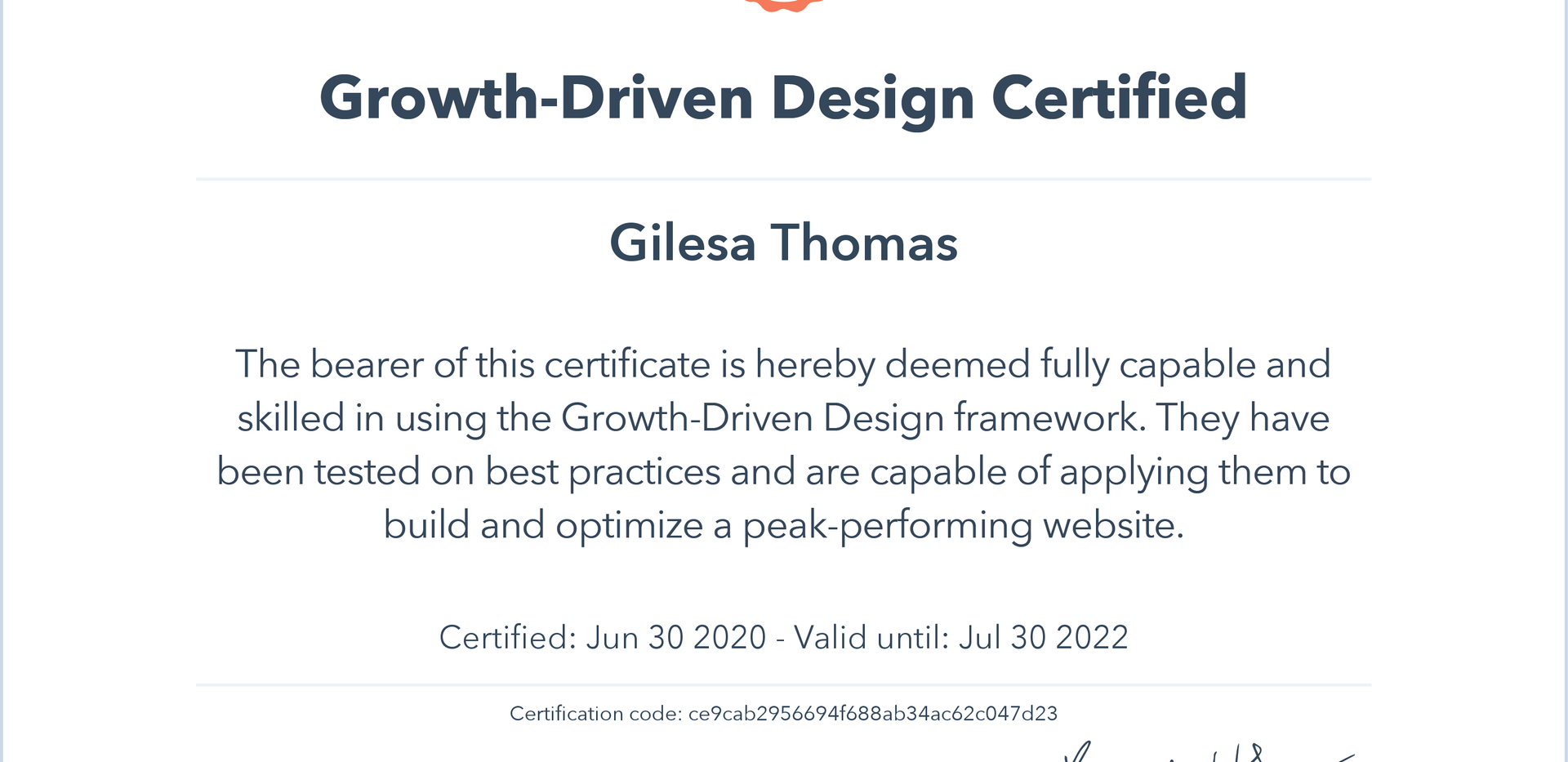 Growth-Driven Design Certfied
