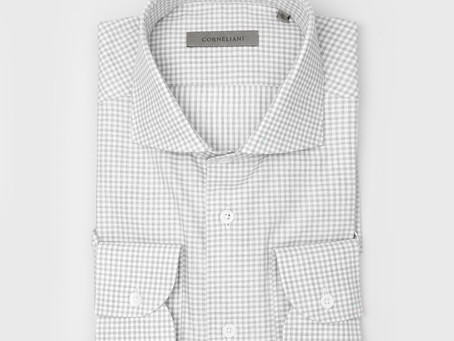 CORNELIANI | 86P102 Small Checkered Shirt Grey | SEK 1,999 👉