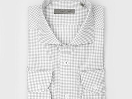 CORNELIANI | 86P102 Small Checkered Shirt Grey | SEK 1,999 👉