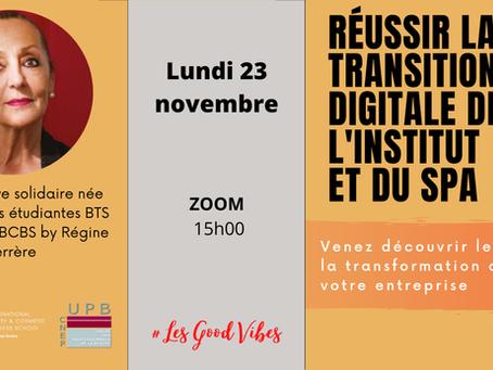Webinar des étudiantes BTS du Campus IBCBS by Régine FERRERE: Réussir la transition digitale