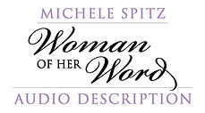 Woman of Her Word Audio Description Logo