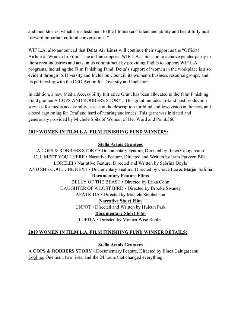 Film Finishing Fund Recipients Release 3