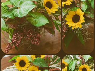 爽やかアレンジ花