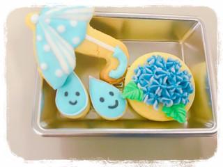 紫陽花アイシングクッキー