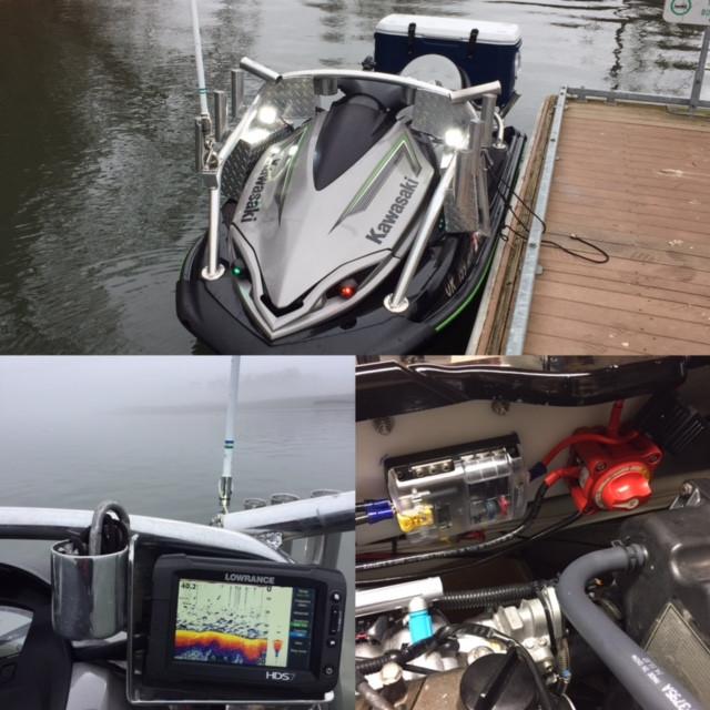 Jetski Fishing Electronics