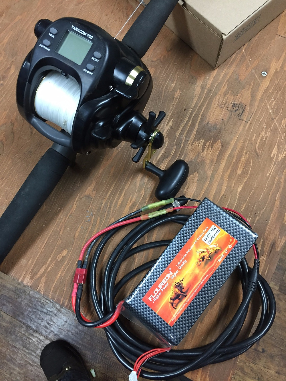 Portable Battery for fishing