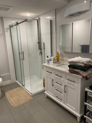 Final bathroom remodeling