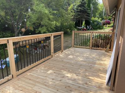 Cedar Deck + Railing