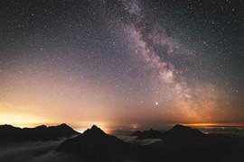 Arran peaks and the milky way