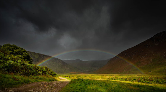 Rainbow up the glen