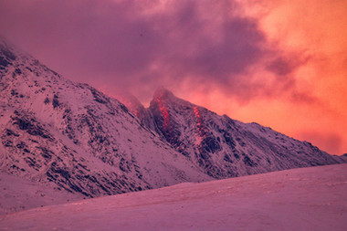Winter sunset Ceum na Caillich