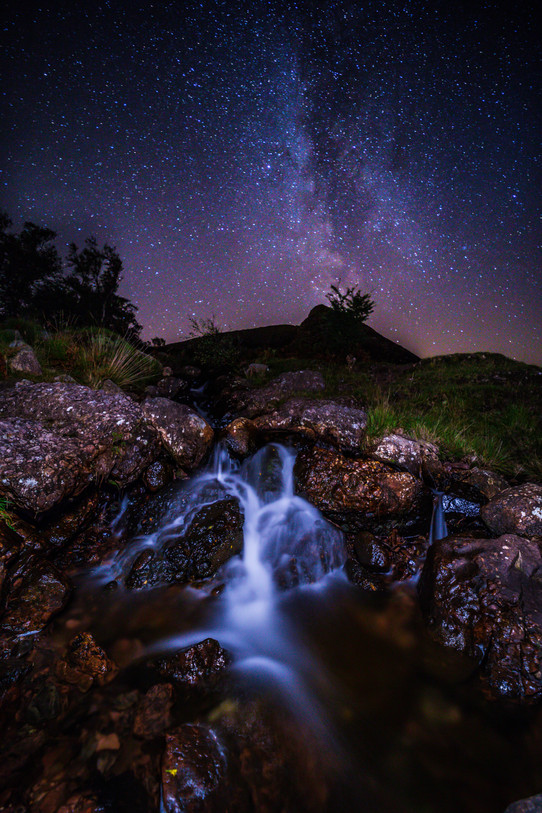 Cioch na h-Oighe and The Milky Way