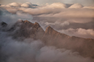 Ceum na Caillich above the clouds