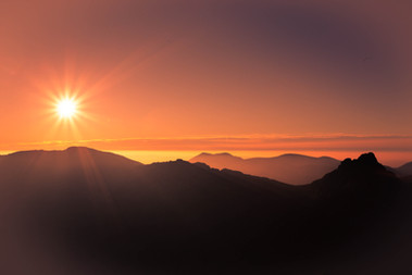 Muted sunset from North Goatfell