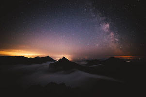 Arran mountains and the universe