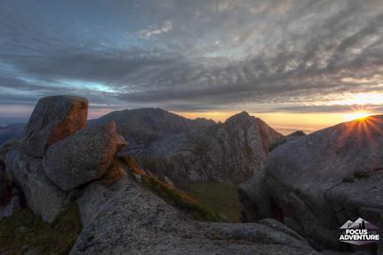 First light, A'chir ridge