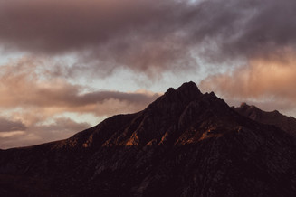 Last light across Cir Mhor