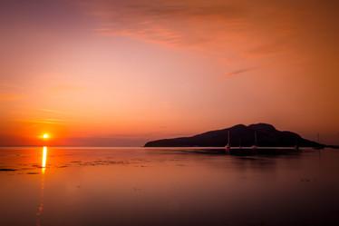 August Sunrise, Lamlash Bay