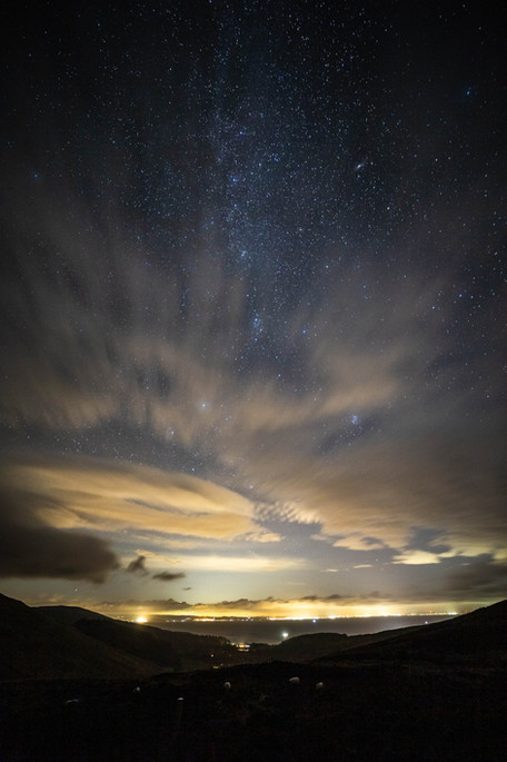 A glimpse of the universe above Brodick.