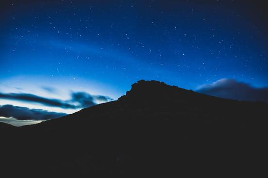 Starry night, North Goatfell