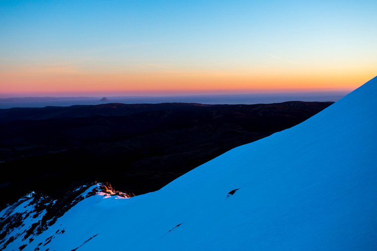 Winter Sunset, Goatfell