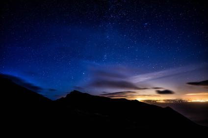 Mullach Buidhe and Am Binnien ridge nightscape