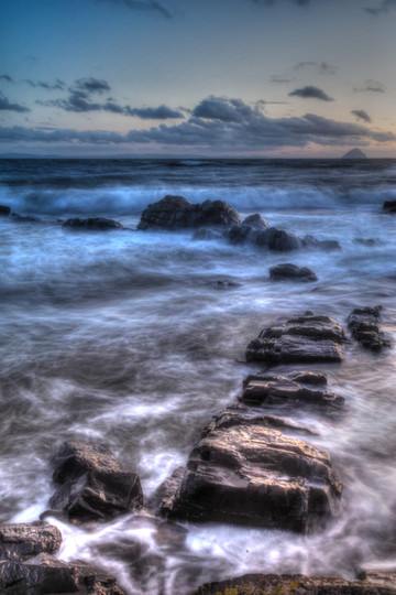 Sunset waves, Kildonan