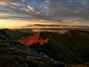 Last light on the red corrie
