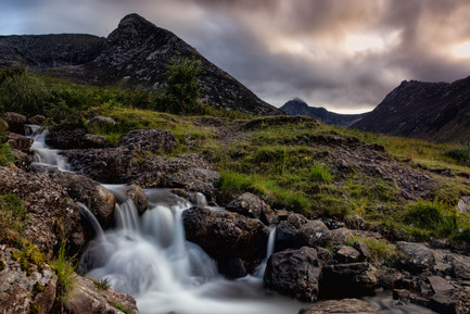 The devils punch bowl and the flowing waters of the Allt a' Chapuill