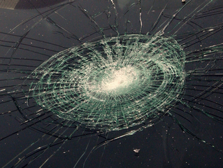 Stones Hit Car Window