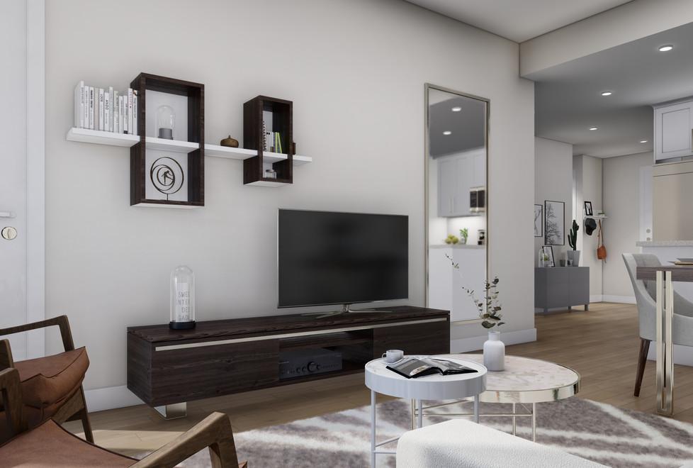 Unit B_Living Room