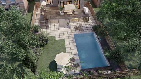 North york- Pool & Sunken living