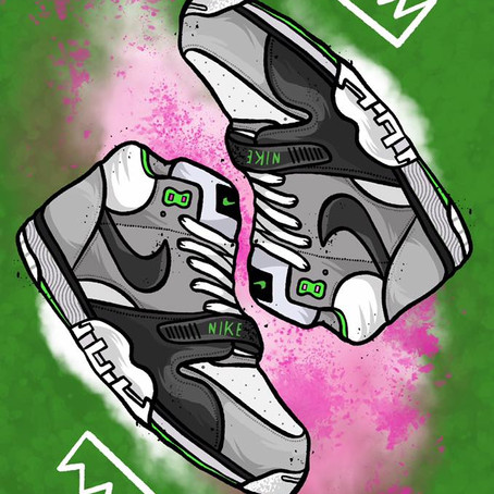 Illustrating Classic Sneakers