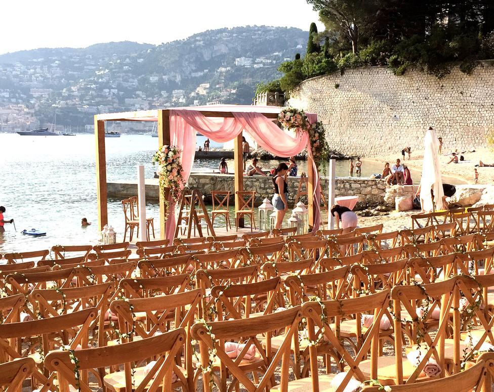 Beach Wedding Ceremony plage de passable