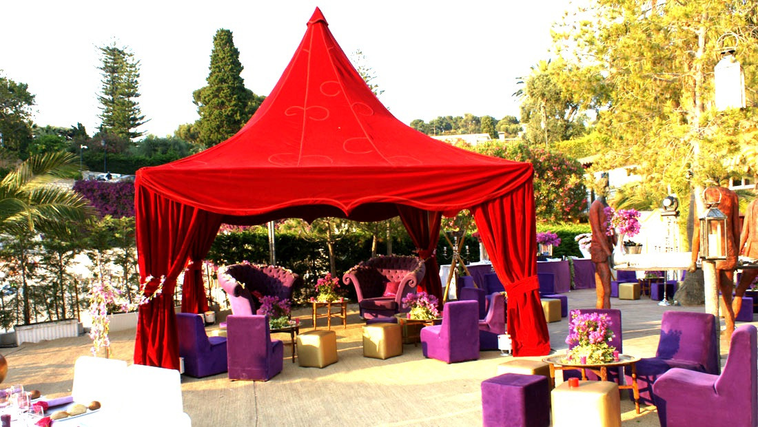 Red & purple Birthday Party
