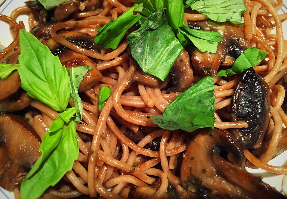 healthy pasta organic mushrooms