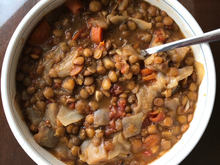 Super Yummy Lentil Cabbage Soup