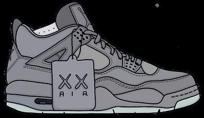 Kaws Jordan 4 Sneaker, Illustration | Little Pixel Creative | Graphic Design Oxfordshire
