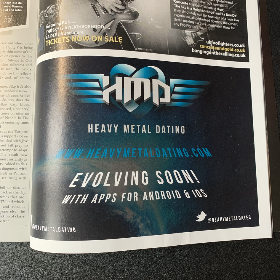 Heavy Metal Dating Magazine Advert, Print Design | Little Pixel Creative | Graphic Design Oxfordshire