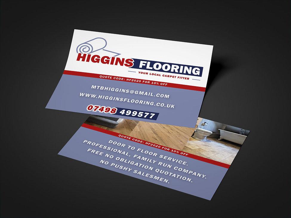 Higgins Flooring Flyers, Print Design | Little Pixel Creative | Graphic Design Oxfordshire