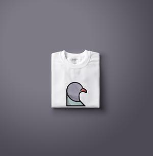 Staple Pigeon Logo Tshirt | Little Pixel Creative | Graphic Design Oxfordshire