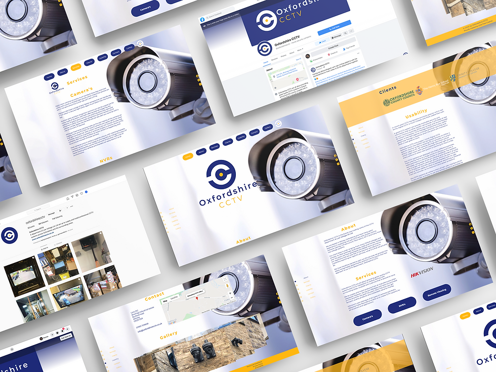 Oxforshire CCTV Web Design | Little Pixel Creative | Graphic Design Oxfordshire