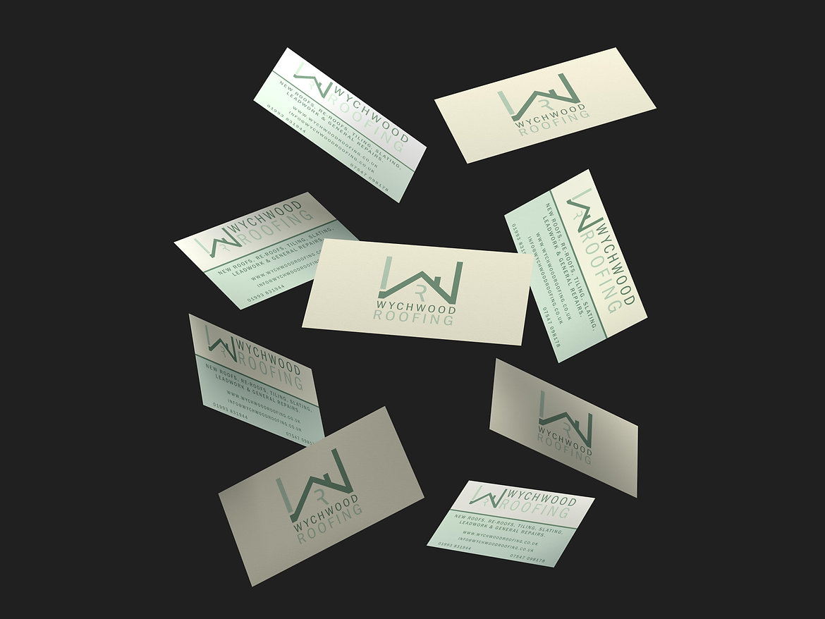 Wychwood Roofing Business Cards, Print Design | Little Pixel Creative | Graphic Design Oxfordshire
