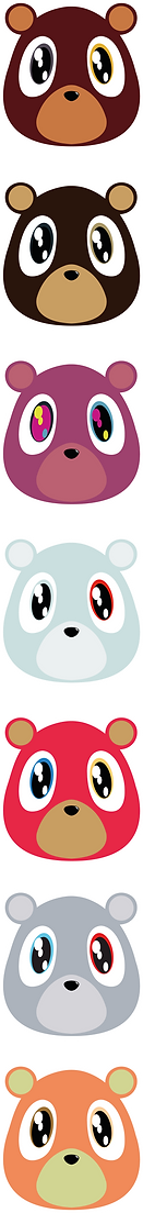 Kanye West Bears Rapper Illustration | Little Pixel Creative | Graphic Design Oxfordshire