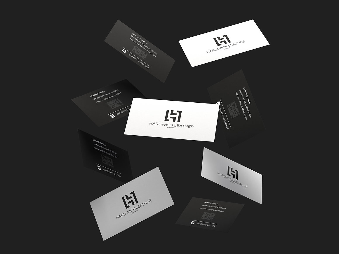 Hardwick Leather Business Cards, Print Design | Little Pixel Creative | Graphic Design Oxfordshire